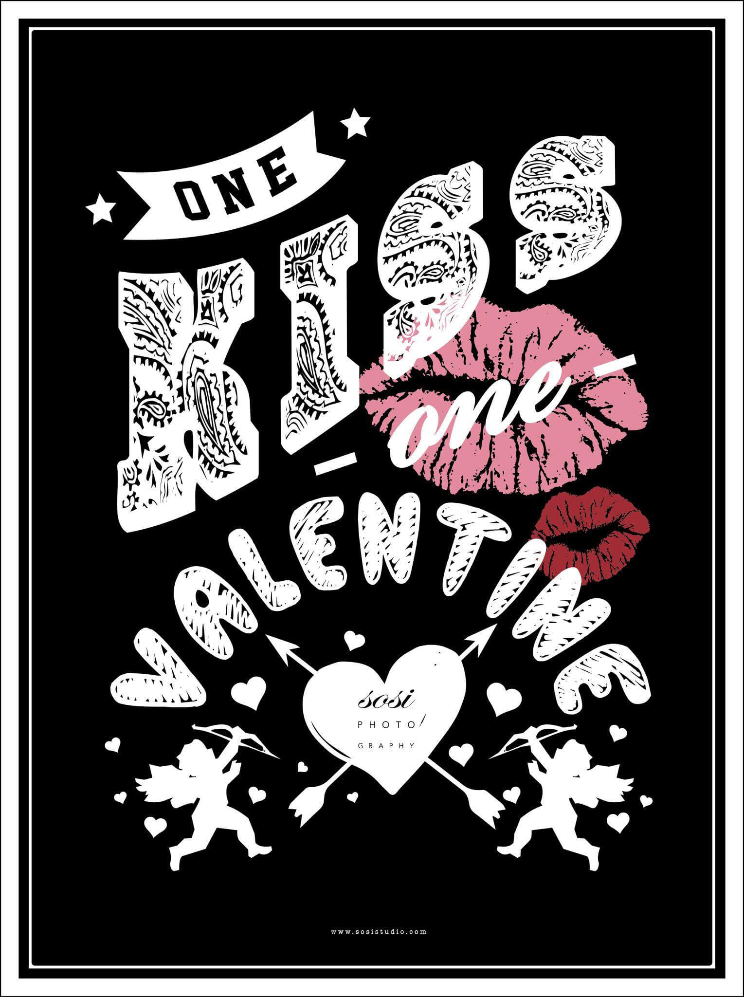 情人節活動one kiss one valentine